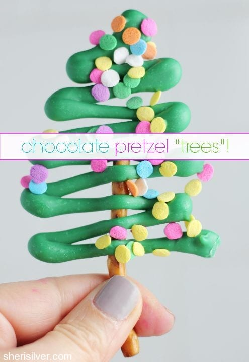 chocolate pretzel trees