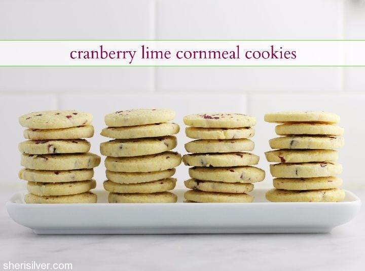 cookie jar: cranberry lime cornmeal cookies | donuts, dresses and dirt ...