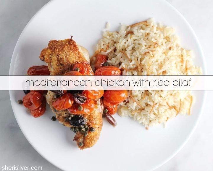 mediterranean chicken with rice pilaf