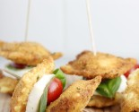 shortcuts: fried ravioli caprese stacks