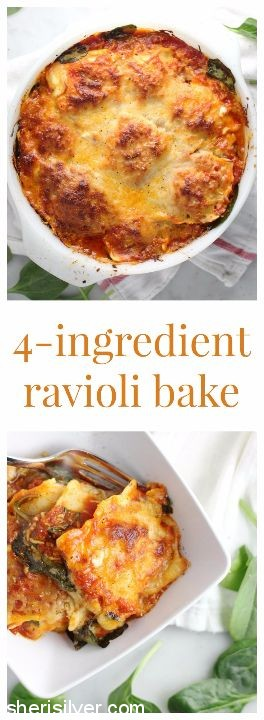 4 ingredient ravioli bake