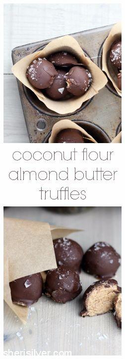 coconut flour almond butter truffles