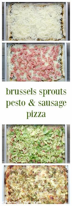 brussels sprouts pesto sausage pizza
