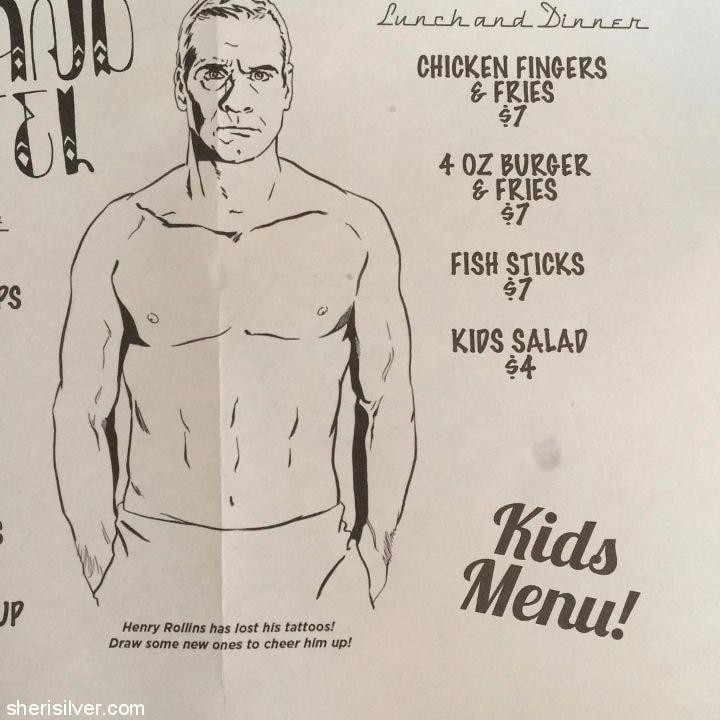 playland motel menu