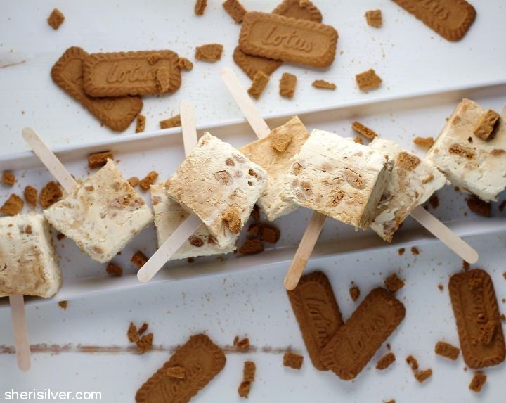 triple biscoff popsicles