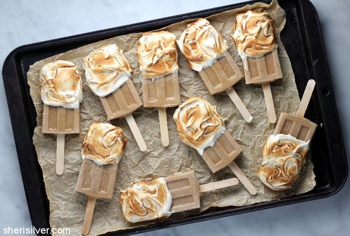 coffee malted baked alaska pops