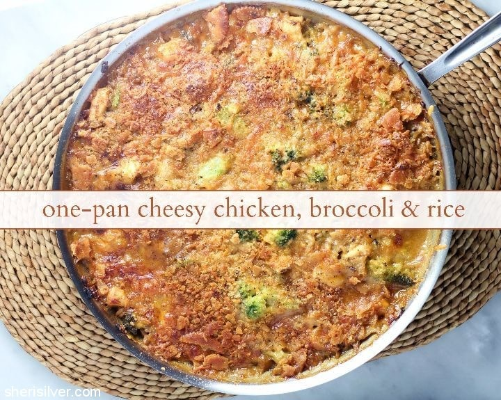 one-pan-cheesy-chicken-broccoli-rice #BensBeginners #UncleBensPromo #ad