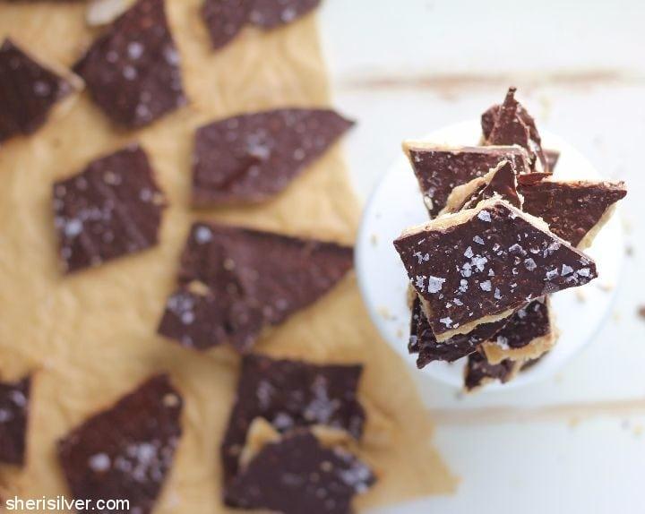 dark-chocolate-toffee-crackers #ad