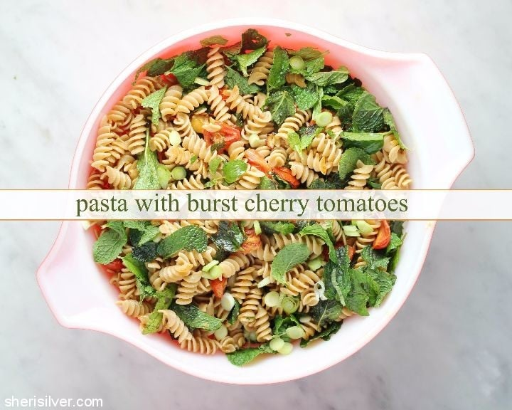 pasta-with-burst-cherry-tomatoes