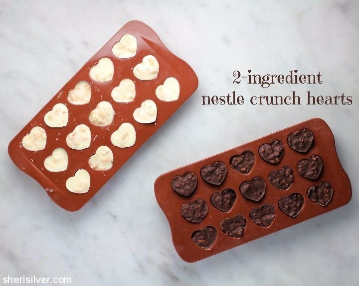 2 ingredient nestle crunch hearts
