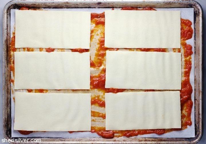sheet pan lasagna