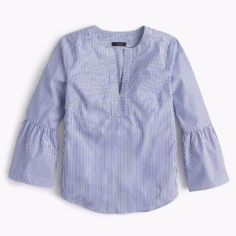 j. crew striped bell sleeve top