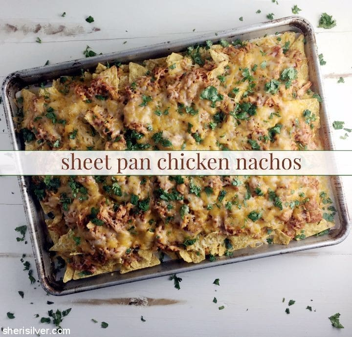 sheet pan chicken nachos #ad