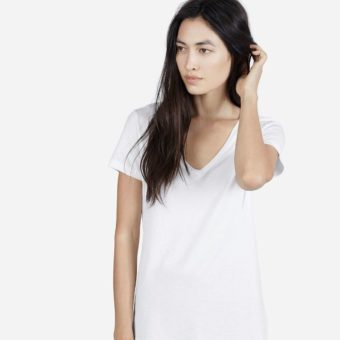 Everlane Cotton V-Neck l sherisilver.com