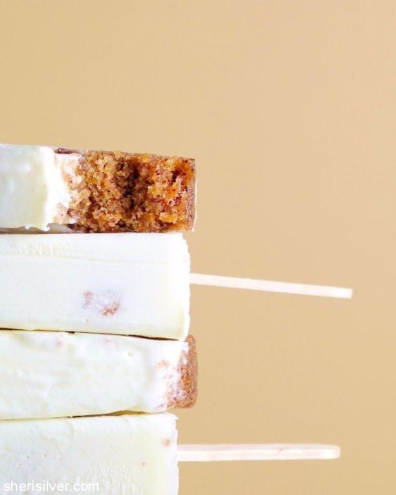 Carrot Cake Popsicles l sherisilver.com