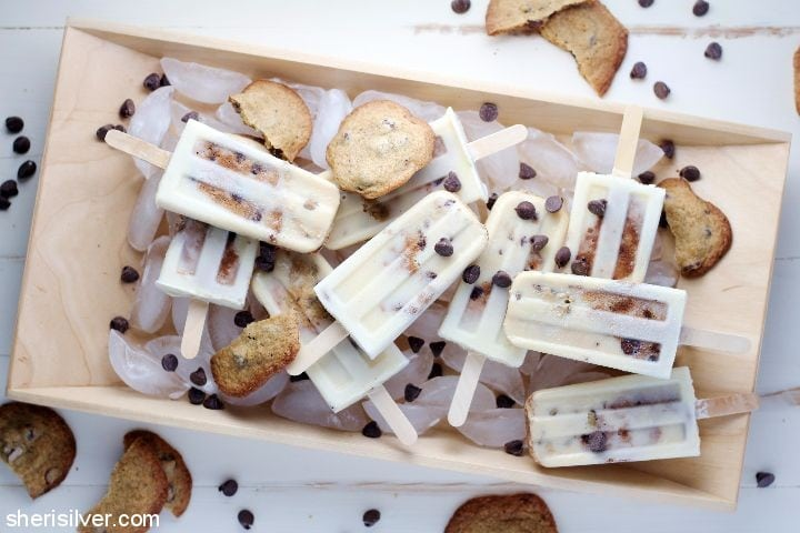 Milk and Cookies Popsicles l sherisilver.com