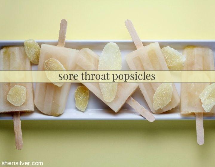 Sore Throat Popsicles l sherisilver.com