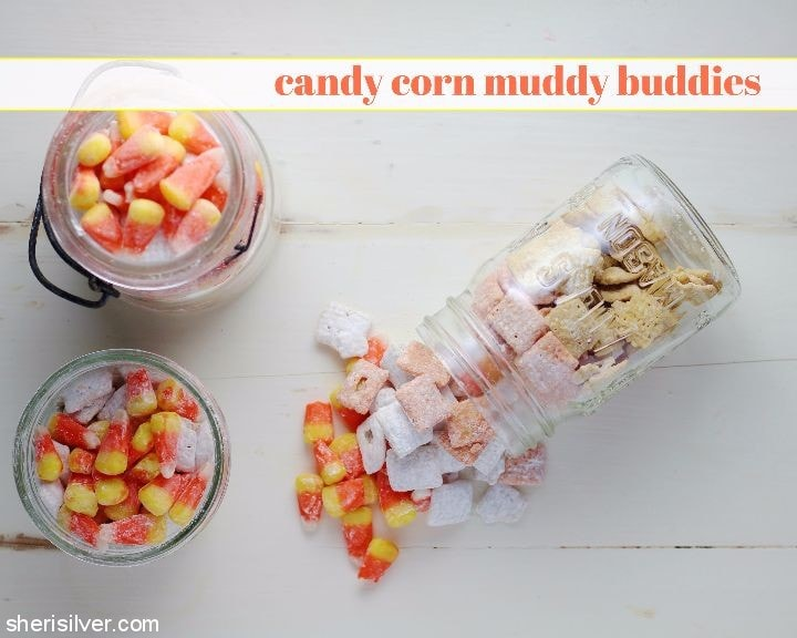Candy Corn Muddy Buddies l sherisilver.com
