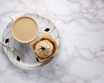 Vanilla Latte Cupcakes l sherisilver.com #ad