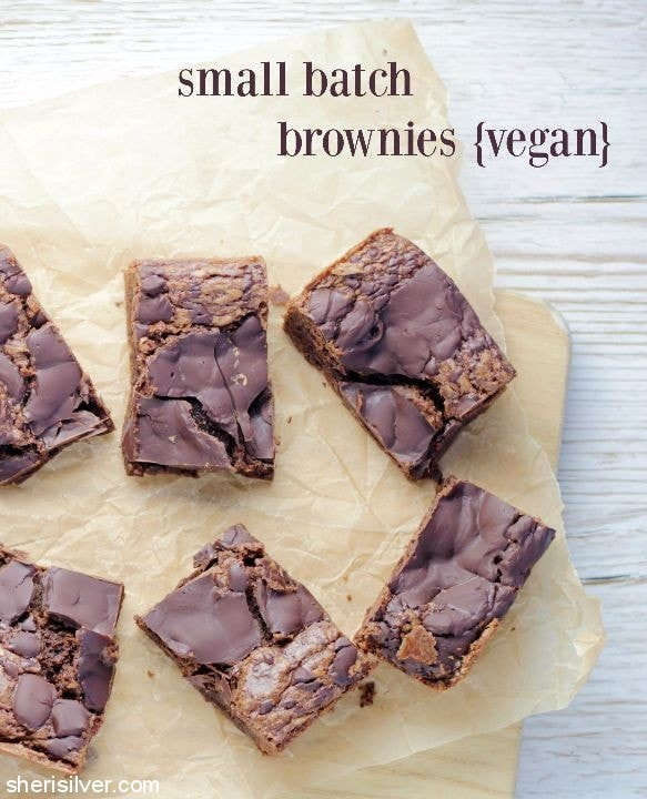 Vegan Small Batch Brownies l sherisilver.com