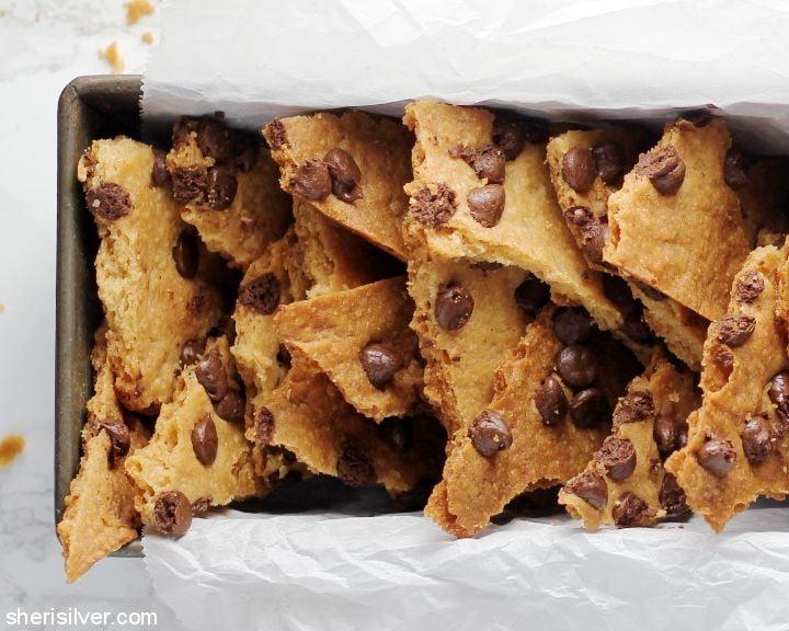Chocolate Chip Cookie Brittle l sherisilver.com