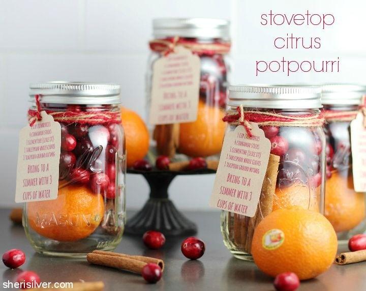 Stovetop Citrus Potpourri l sherisilver.com #ad