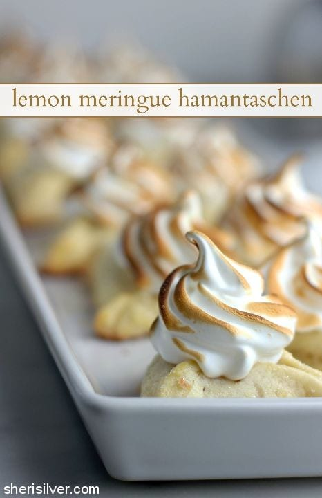 Lemon Meringue Hamantaschen l sherisilver.com