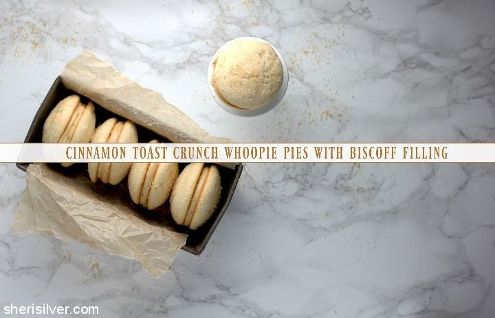 Cinnamon Toast Crunch Whoopie Pies with Biscoff Filling l sherisilver.com
