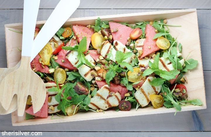 Watermelon Halloumi Salad