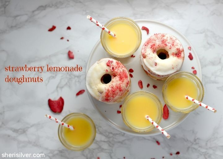 Strawberry Lemonade Doughnuts