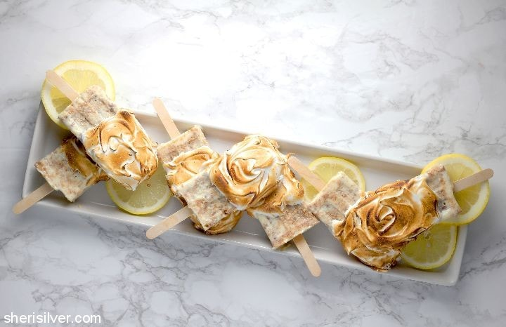 Lemon Meringue Pops l sherisilver.com