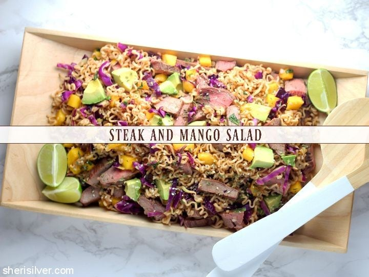 Steak and Mango Salad l sherisilver.com
