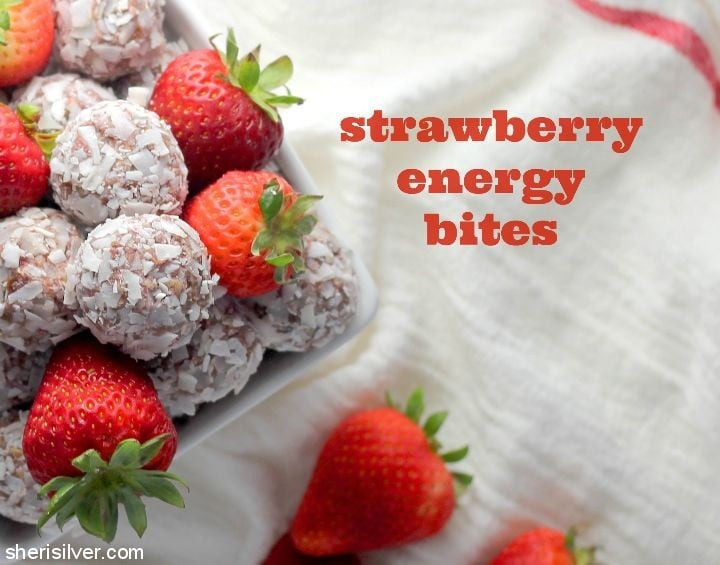 Strawberry Energy Bites l sherisilver.com