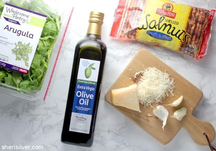 Pesto Shrimp Naan Flatbreads l sherisilver.com