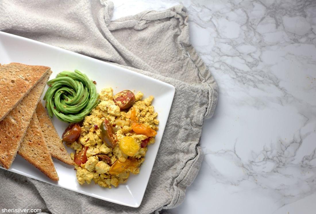 Tofu Scramble Vegan l sherisilver.com