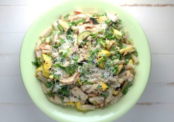 Pasta With Grilled Chicken and Zucchini l sherisilver.com #ad