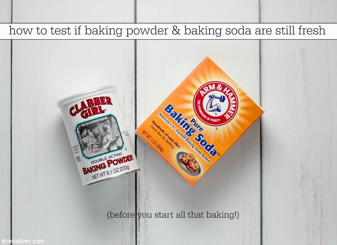 How to Test Baking Powder and Baking Soda for Freshness l sherisilver.com
