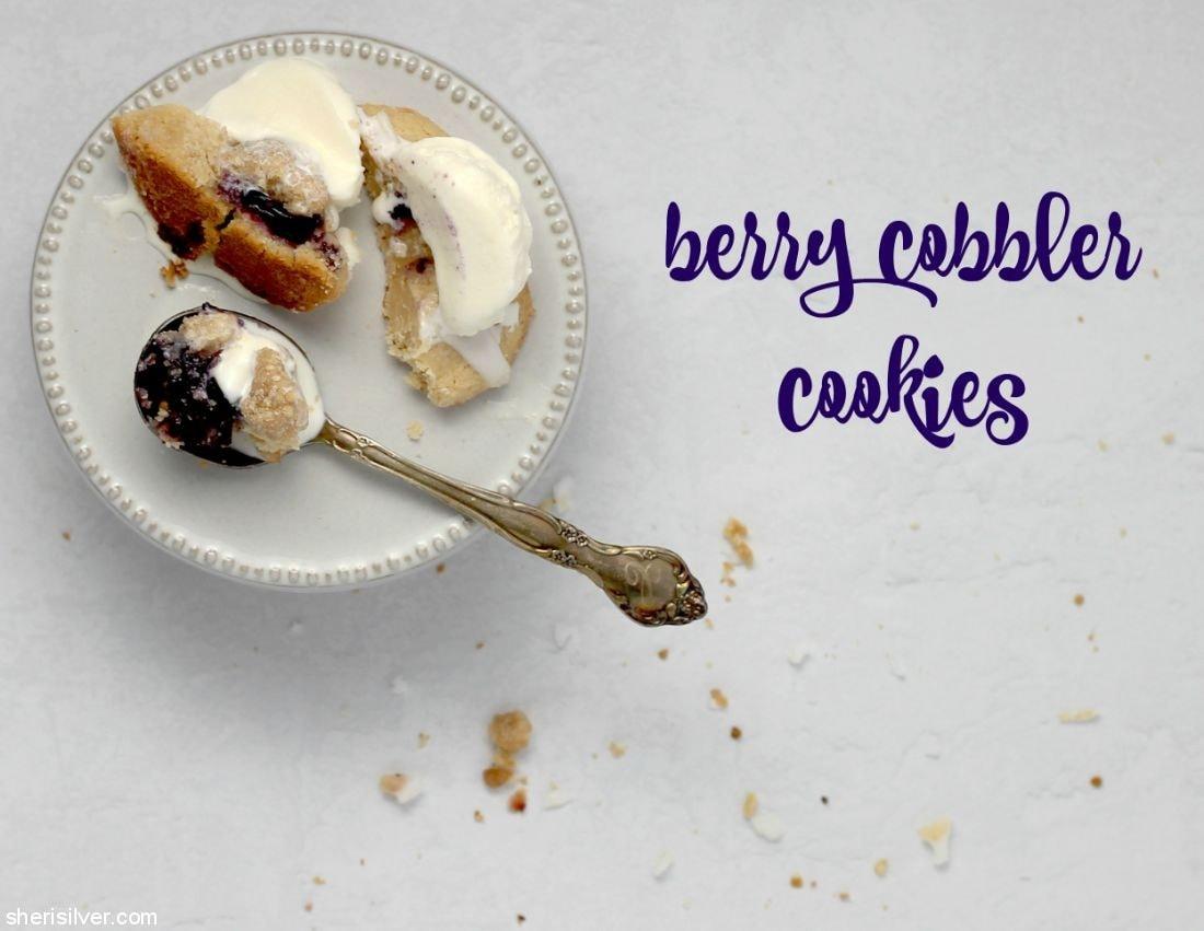 Berry Cobbler Cookies l sherisilver.com