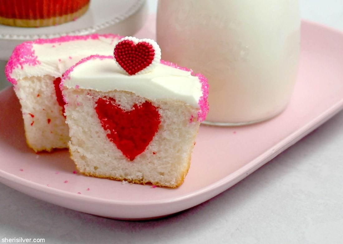Surprise Cupcakes l sherisilver.com