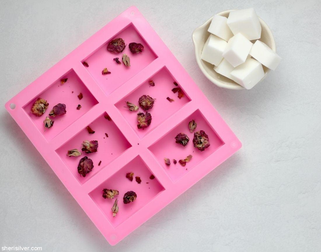 Homemade Rose Soap l sherisilver.com