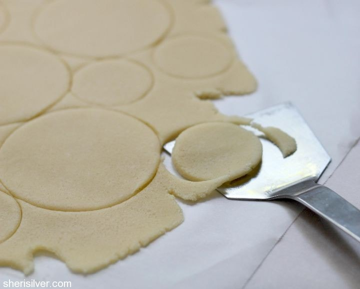rolled sugar cookie dough