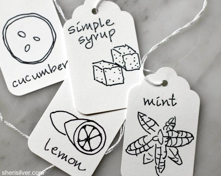 tags for infused waters