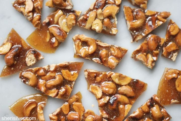 chili lime and cashew brittle