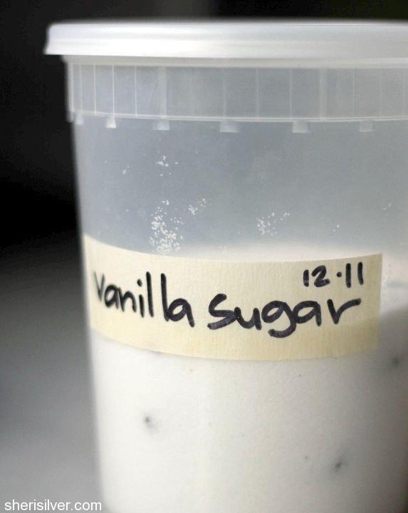 deluxe double vanilla pound cake, vanilla sugar