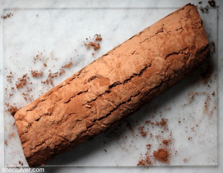 flourless chocolate roulade
