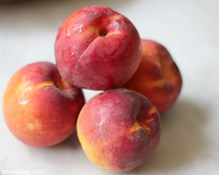 peaches, fruit leather