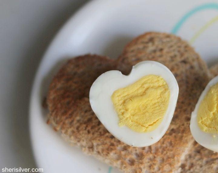 heart shaped egg