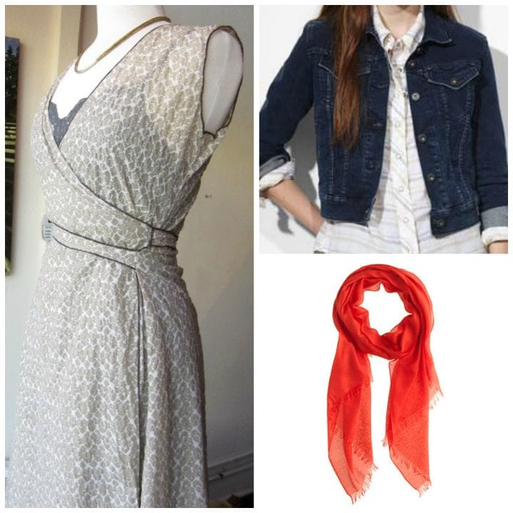 dress jean jacket scarf