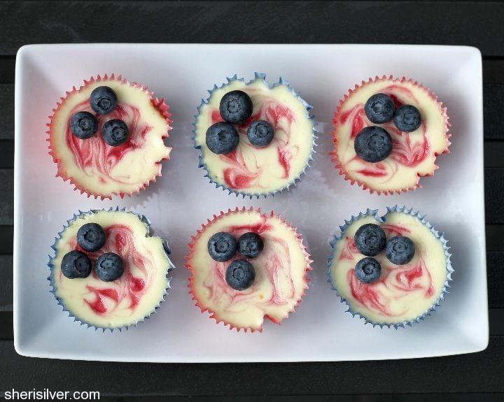 raspberry mini cheesecak
