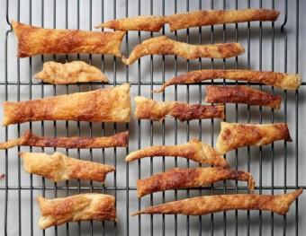 cinnamon sugar puff pastry scraps